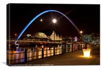Millenium bridge Gateshead, Canvas Print