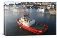 Norwegian tug, Canvas Print