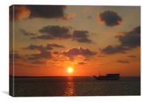 Indonesian sunset, Canvas Print