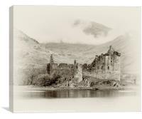 Kilchurn Castle Scotland, Canvas Print