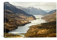 Loch Leven Landscape Scotland, Canvas Print
