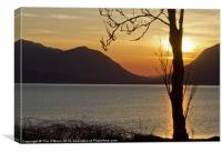 Sunset Over Loch Linnhe, Canvas Print
