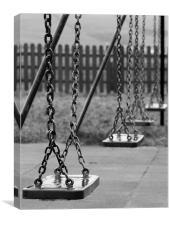 Empty Swings, Canvas Print