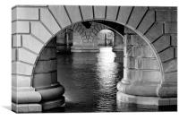 Arches of a Glasgow Bridge, Canvas Print