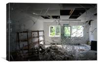 Broken Hospital,North wales, Canvas Print