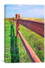 Post and Rail Fence, Canvas Print
