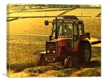 Massey Ferguson 675 Tractor, Canvas Print