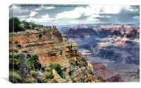 Grand Canyon Viewpoint, Canvas Print