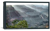 Grand Canyon Cascade, Canvas Print