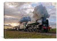 60163 Tornado & 70000 Britannia, Canvas Print