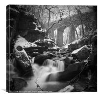 Fairie's Chapel, Healey Dell, Canvas Print