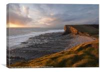 Glamorgan Heritage Coast, Nash Point, Canvas Print