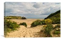 Three Cliffs Bay, Canvas Print