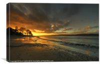An Arnside Sunset, Canvas Print