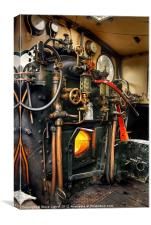 Footplate Detail, Canvas Print