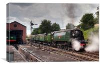 SR West Country Class 4-6-2 No. 34007 Wadebridge, Canvas Print