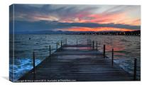 A Salou Sunset, Canvas Print