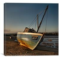 Sunset at Morecambe, Canvas Print