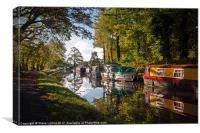 Monmouthshire and Brecon Canal at Goytre, Canvas Print
