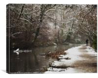 A Winters Walk, Canvas Print