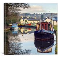 The Monmouthshire and Brecon Canal, Canvas Print