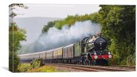 GWR Castle Class  5043 Earl of Mount Edgcumbe, Canvas Print