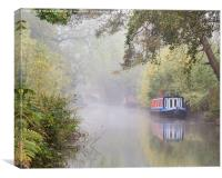 The Basingstoke Canal, Canvas Print