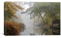 Autumn on the Basingstoke Canal, Canvas Print