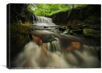 'Rocky Brook' Waterfall, Canvas Print