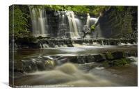 Scarloom Waterfall, Holden, Lancashire, Canvas Print