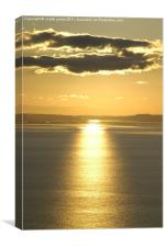 autumn sunset, Canvas Print