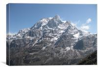 mountain- a rare beauty, Canvas Print