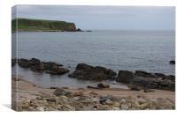 Dunbeath beach, Canvas Print