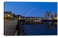 Quayside Millennium Bridge Reflection, Canvas Print