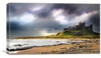 Stormy sky over Bamburgh Castle, Canvas Print