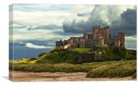 Cloudy Bamburgh Castle, Canvas Print