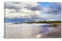 Dunstanburgh Shoreline, Canvas Print