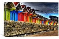 Scarborough Beach Huts, Canvas Print