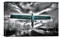Angel of the North,Blue, Canvas Print
