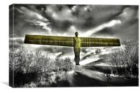 Angel of the North,Lime, Canvas Print
