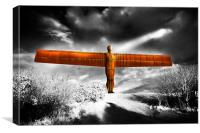 Angel of the North,highkey, Canvas Print