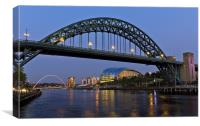 Newcastle Tyne Bridge, Canvas Print