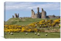 Dunstanburgh castle, Canvas Print