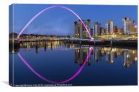 Pink Millenium bridge, Canvas Print