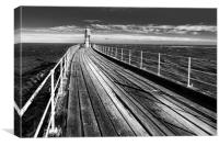 Whitby Harour Pier, Canvas Print