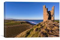 Dunstanburgh Castle Tower, Canvas Print