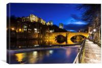Durham at night, Canvas Print