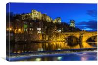Durham Castle at night, Canvas Print