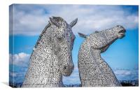 Falkirk kelpies, Canvas Print
