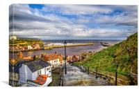 Whitby Steps, Canvas Print